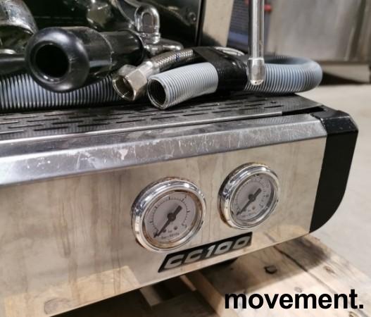 Espressomaskin fra Conti, modell CC100, 2gruppers, 1fas strøm 16A 230V, pent brukt bilde 5