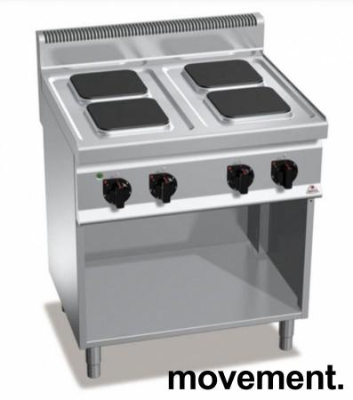 Bertos Komfyr E7PQ4M for storkjøkken, 4 kokeplater, 400Volt, 80cm, pent brukt bilde 5