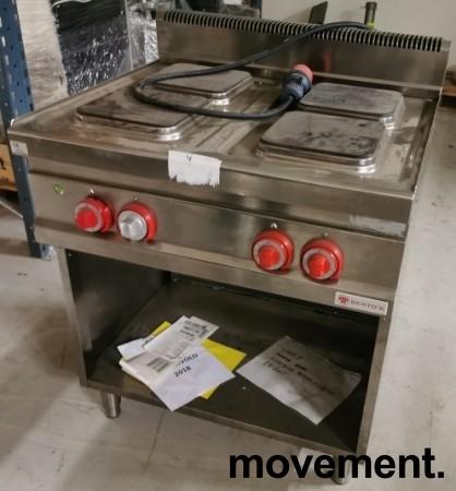 Bertos Komfyr E7PQ4M for storkjøkken, 4 kokeplater, 400Volt, 80cm, pent brukt bilde 2