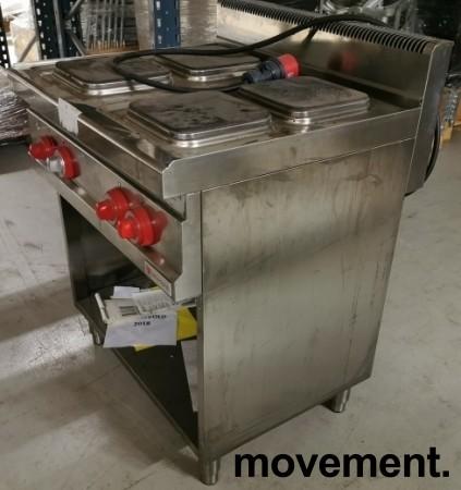 Bertos Komfyr E7PQ4M for storkjøkken, 4 kokeplater, 400Volt, 80cm, pent brukt bilde 3