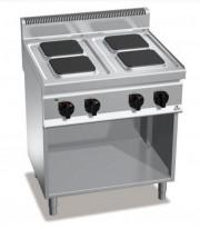 Bertos Komfyr E7PQ4M for storkjøkken, 4 kokeplater, 400Volt, 80cm, pent brukt