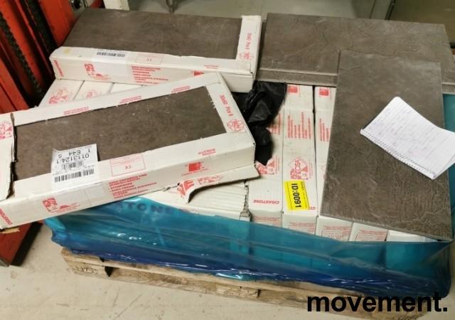 Lekre gulvfliser 30x60cm fra Cisa, grå farge, ca 60kvm restparti bilde 8