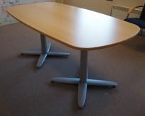 Kompakt møtebord i eik, Kinnarps T-serie, 180x90cm, passer 6personer, pent brukt