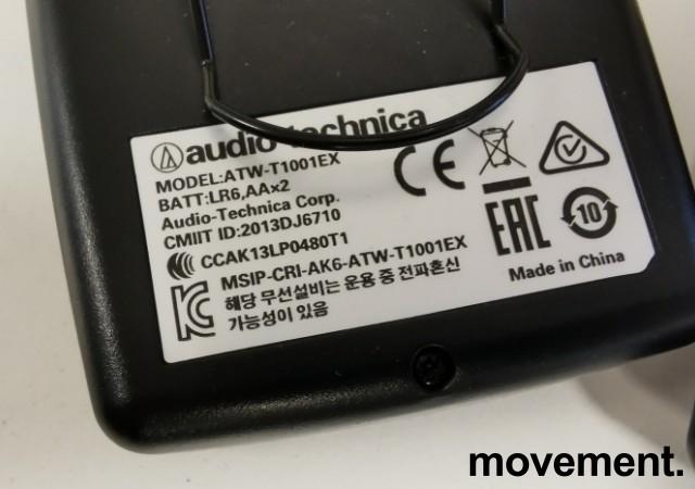 Audio-Technica System10 Digital 2,4GHz, 2 stk bøylemic/mygg med sender, pent brukt bilde 2