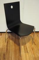 Kinnarps konferansestol i sort finer / krom, Citra, pent brukt