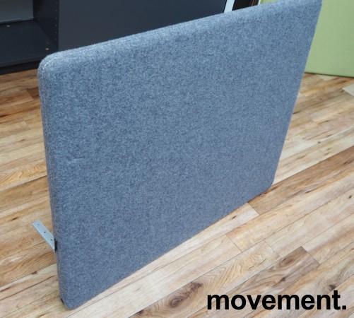 Götesons bordskillevegg 80x67cm i grått stoff. Pent brukt bilde 2