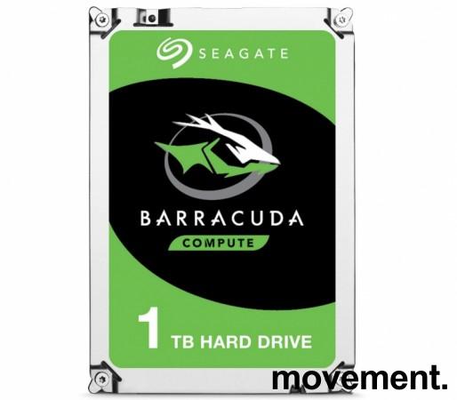Harddisk: Seagate Barracuda ST1000DM010, 1TB, 3,5toms, NY I FORSEGLET EMB. bilde 1