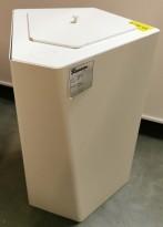 Søppelbøtte / papirkurv / kildesortering med lokk for restavfall i hvitt fra Trece, pent brukt