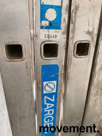 Yrkesstige / sammenleggbar Zarges-stige, ZARGES Z500 / 41183, 4-delt, 3,7meter profftrapp, pent brukt bilde 4