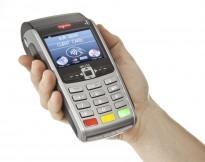 Bankterminal Ingenico IWL250 fra konkursbo, for mobil/sim-kort, med printer, pent brukt