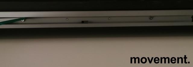 Glassdør / skyvedør i 8mm herdet glass med topphengt skinne i god kvalitet, 103x295cm, pent brukt bilde 5