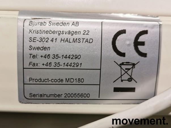 Euroscreen elektrisk lerret, 180cm bredde + kasse, pent brukt bilde 4