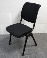 Håg Conventio 9510, stablebar, lettvekts konferansestol, NYTRUKKET i sort stoff / sort ben, pent brukt