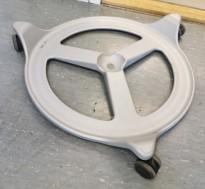 Hjulsett til Backapp Office, Back App Wheels Silver, pent brukt