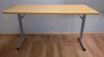 Konferansebord / klappbord i bøk laminat understell i grått, 120x60cm bordplate, pent brukt