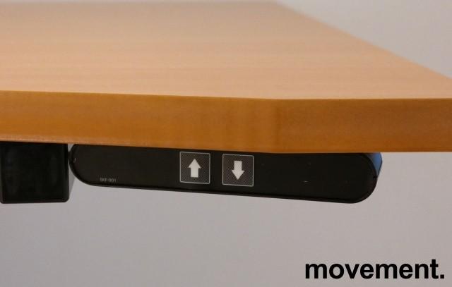 Skrivebord med ettpunkts elektrisk hevsenk i bøk / grått, 160x80cm, brukt bilde 3