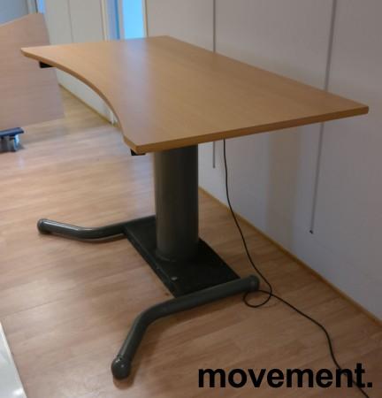 Skrivebord med ettpunkts elektrisk hevsenk i bøk / grått, 160x80cm, brukt bilde 2