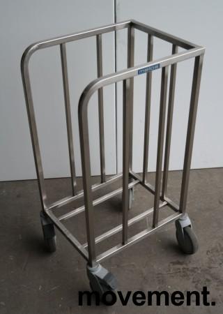 Tralle for kantinebrett i rustfritt stål fra Metos, pent brukt bilde 1