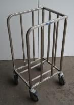 Tralle for kantinebrett i rustfritt stål fra Metos, pent brukt