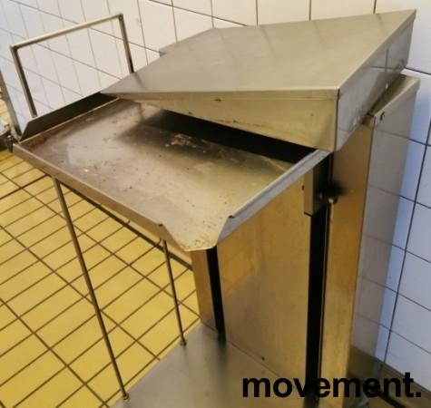 Brettdispenservogn for kantinebrett, pent brukt bilde 3