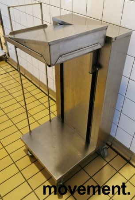 Brettdispenservogn for kantinebrett, pent brukt bilde 2