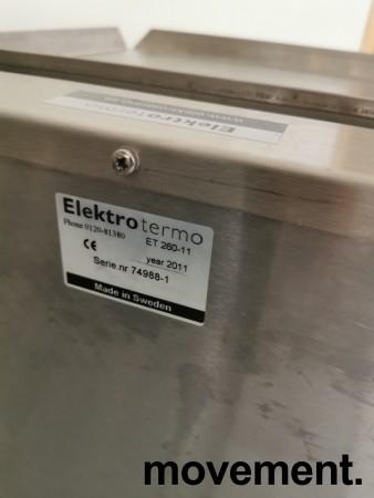 Dispenservogn for kantinebrett i rustfritt stål, komplett med ca 100 brett, pent brukt bilde 3