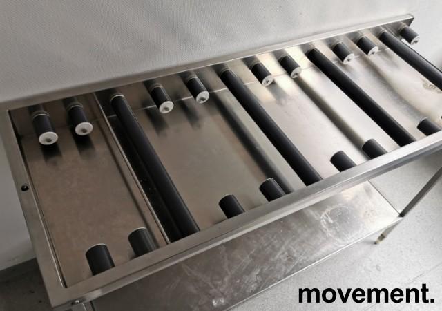 Rullebane / rullebenk i rustfritt stål for oppvask, 170cm bredde, pent brukt bilde 2