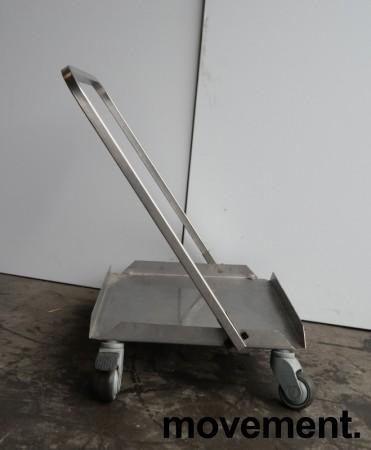 Tralle med bøylehåndtak i rustfritt stål, 51x45cm, høyde håndtak 68cm, brukt bilde 1