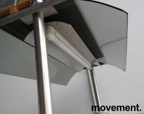 Serveringsmodul / buffet på hjul i lys beige / rustfritt stål fra Metos, 80cm bredde, med brettbane for kantinebrett, pent brukt bilde 4
