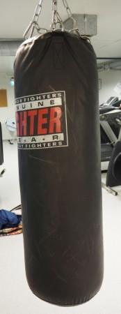 Boksesekk i sort Fighter gear, pent brukt