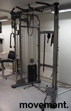 Multigym treningsapparat fra Casall, kabelmaskin / cable crossover, pent brukt bilde 2