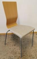 Konferansestol fra EFG i eik finer / grått stoffsete / grå ben, modell GRAF, pent brukt