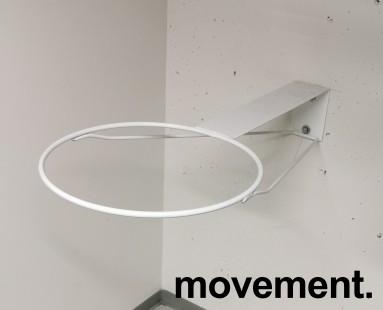 Veggfestet stativ for plassering av gymball i treningsrom, Ø=40 på ring, bygger 85cm ut fra vegg, pent brukt bilde 1