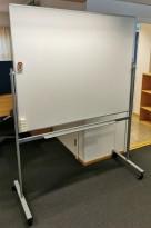 Whiteboard på hjul / stativ fra Lintex, 150x120cm whiteboard, 162cm bredde, 208cm høyde, pent brukt