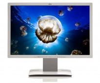 Flatskjerm til PC: Fujitsu B24W-6, 24toms LED, 1920x1200, hvit, VGADVI/DP/USB/Audio, pent brukt