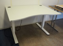 Skrivebord med elektrisk hevsenk i lys grå / hvitt fra EFG, 120x90cm, pent brukt