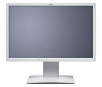 Flatskjerm til PC: Fujitsu B24W-7, 24toms LED, 1920x1200, hvit, VGADVI/DP/USB/Audio, pent brukt