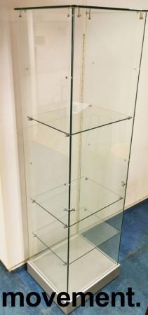 Glassmonter / premieskap, 51cm bredde, 46cm dybde, 181cm høyde, åpen bakside, pent brukt bilde 1