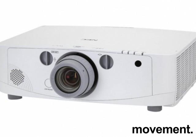 Prosjektor fra NEC: PA550W, 1280x800, HDMI, hele 5500 ansilumen, 1633 timer på pære bilde 1