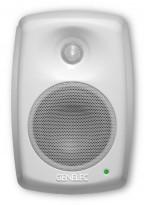 Ett par Genelec 4020B aktive høyttalere / studiomonitor i hvitt, pent brukt