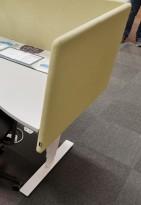 EFG Tab bordskjerm / bordskillevegg i limegrønt stoff, 80x60cm, NY/UBRUKT