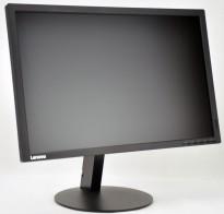 Flatskjerm til PC: Lenovo ThinkVision T2454pA, 24toms, 1920x1200, VGA/DP/HDMI/USB3.0, pent brukt