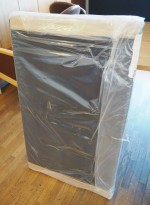 Bordskillevegg / skjermvegg for skrivebord fra EFG, sort stoff, 100x62cm, NY / UBRUKT