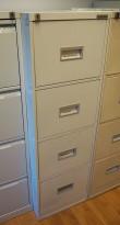 Arkivskap for hengemapper fra Kasten Høvik, lys grå, 4 skuffers, 42cm bredde, høyde 132cm, brukt