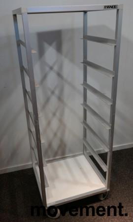 Oppvasktralle for oppvaskbakker fra Essnor, 6 hyller, 153cm høyde, pent brukt bilde 1