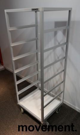 Oppvasktralle for oppvaskbakker fra Essnor, 6 hyller, 153cm høyde, pent brukt bilde 2