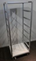 Oppvasktralle for oppvaskbakker fra Essnor, 6 hyller, 153cm høyde, pent brukt