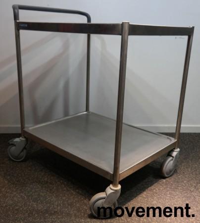 Kantinetralle / trillevogn i rustfritt stål fra Metos, 73x55x82cm, pent brukt bilde 1