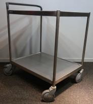 Kantinetralle / trillevogn i rustfritt stål fra Metos, 73x55x82cm, pent brukt