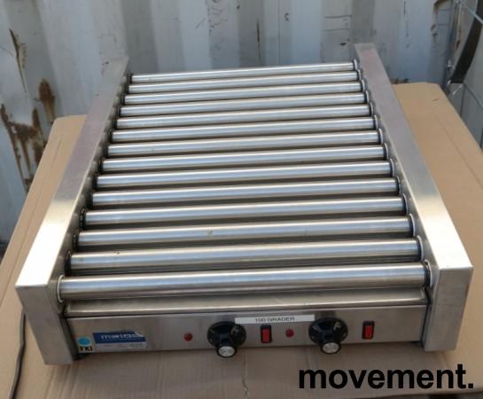 Pølsegrill / rullegrill fra FKI / Metos, MOD.GL14R45/2T, 14 ruller, 2 soner, pent brukt bilde 6